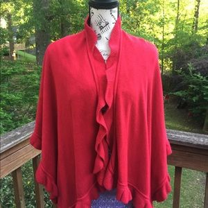 Collectioneighteen red one size fits all cape